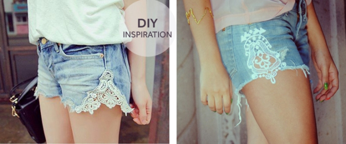 DIY Denim and Lace