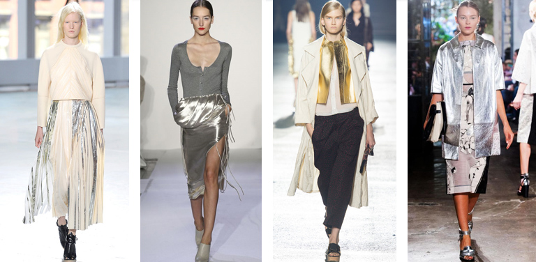 3 trends spring-metallic Runway