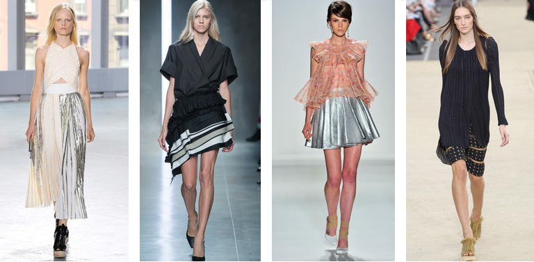 3 Trends spring-pleated skirt Runway