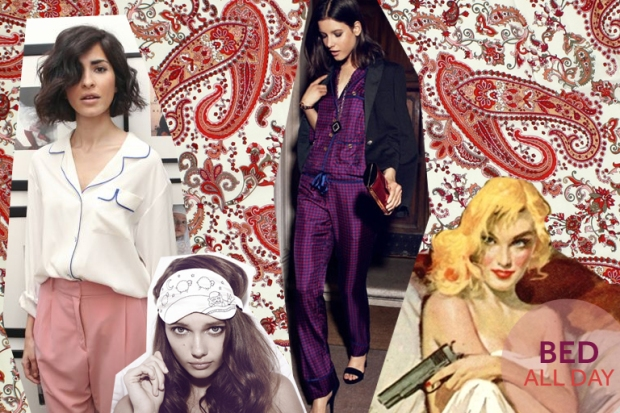 Photo source: Ezgi Kiramer; Blank mag; Morgan Lane sleeping mask; Sexy lingerie tips; Tory Burch purple pyjama; Grazia daily; The Big Sleep book cover; Tune up Space, TÉLIO's Fabrics used as background: Rayon Voile style 33079 color 03