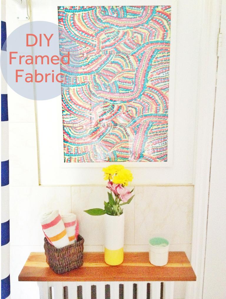 diy-framed-fabric