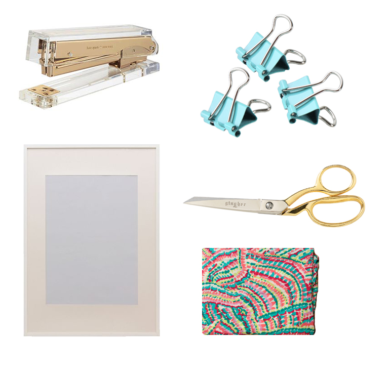 Tools-diy-framed fabric