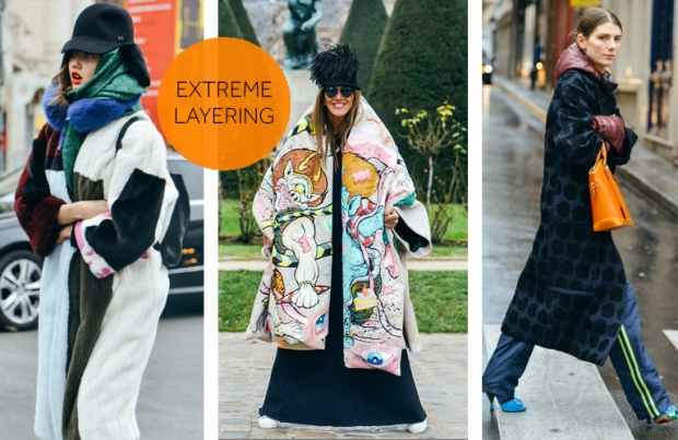 Street Style Extreme Layering