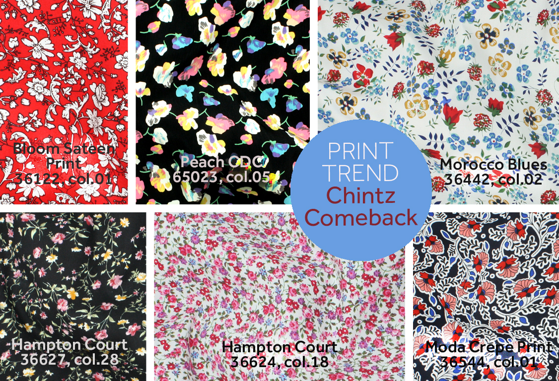 2017 fashion trend forecast - Spring Summer 2017 Print Trend Chintz Comeback Textures