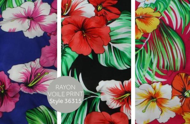Télio's Rayon Voile Print