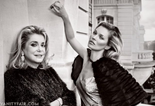 Catherine Deneuve Kate Moss Vanity Fair